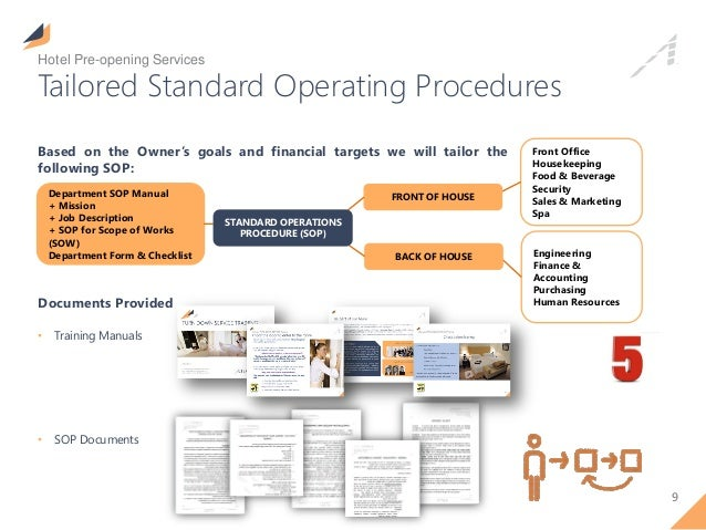 hotel accounting standard operating procedures manual