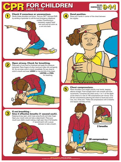 Infant cpr instructions printable