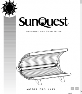 Sunquest pro 20s tanning bed manual